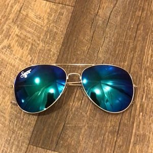 Sauza Tequila branded Blue Aviator Sunglasses